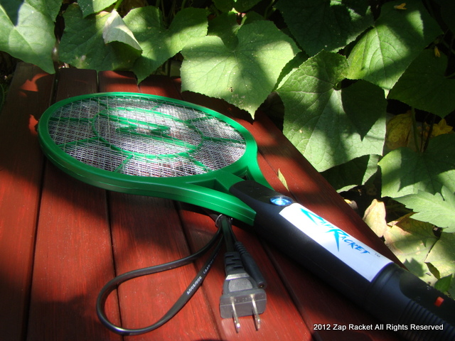 Green Beret Zap Racket outside where it works best